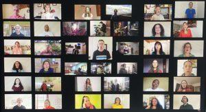 parte de los componentes de Gospel Shine Voices, tal como aparecen en el vídeo que está en YouTube.